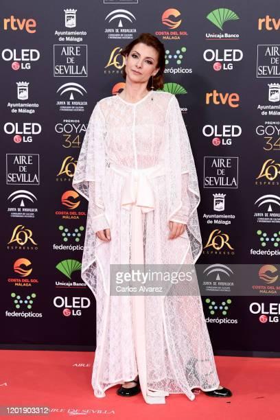 Najwa Nimri attends the Goya Cinema Awards 2020 during the 34th edition of the Goya Cinema Awards at Jose Maria Martin Carpena Sports Palace on...