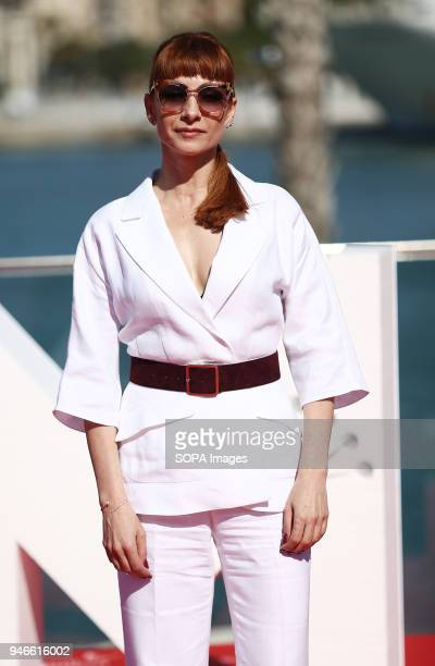 FESTIVAL MALAGA ANDALUSIA SPAIN Najwa Nimri attends the photocall of the TV serie Vis a Vis with in the 21st Malaga Film Festival in Malaga The...