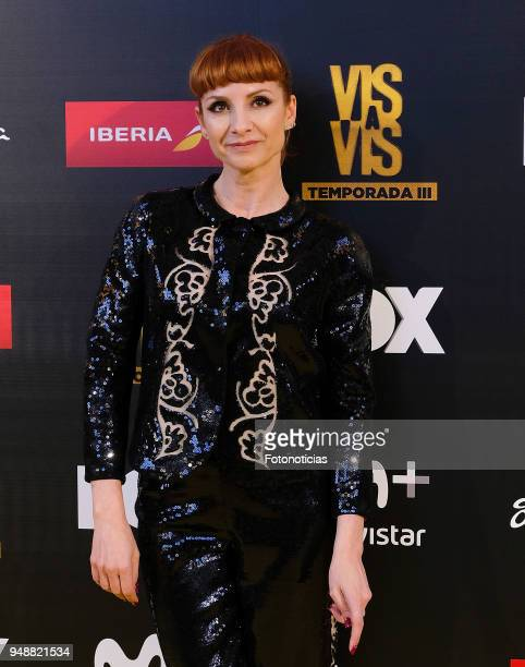 Najwa Nimri attends the premiere of 'Vis a Vis' at Capitol Cinema on April 19 2018 in Madrid Spain