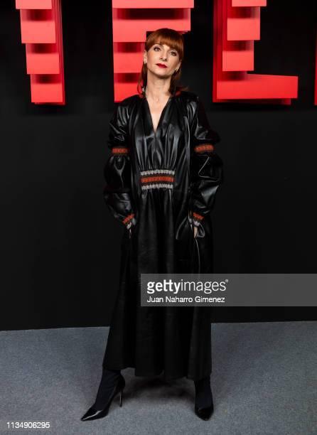 Najwa Nimri attends the red carpet during the Netflix presentation party at the Invernadero del Palacio de Cristal de la Arganzuela on April 4, 2019...