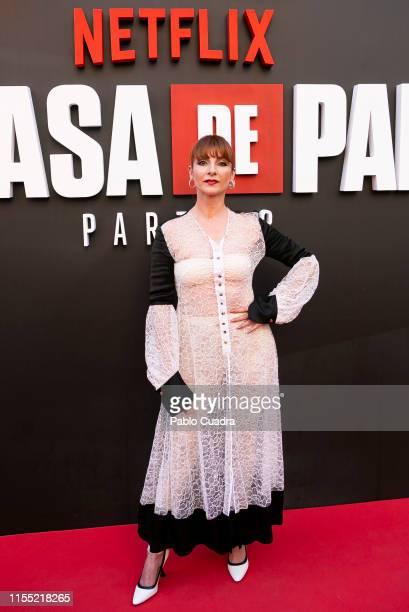 Najwa Nimri attends the red carpet of 'La Casa De Papel' 3rd Season by Netflix on July 11, 2019 in Madrid, Spain.