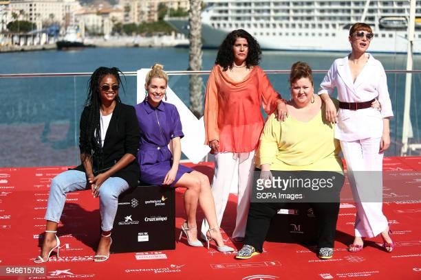 FESTIVAL MALAGA ANDALUSIA SPAIN Najwa Nimri Berta Vázquez Itziar Castro Maggie Civantos attends the photocall of the TV serie 'Vis a Vis' with in the...