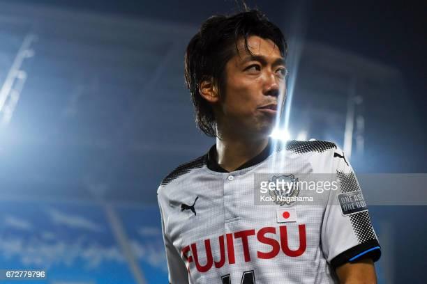 Nakamura Kengo of Kawasaki Frontale looks on after winning the AFC Champions League Group G match between Suwon Samsung Bluewings and Kawasaki...