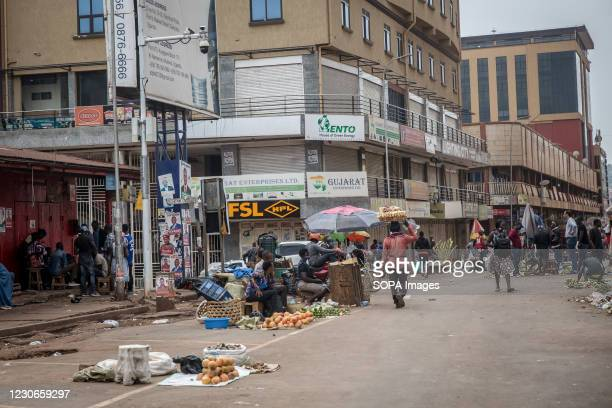 Nakasero market in Kampala, the scene of November protests when at least 54 people were killed, is quiet on the day of the presidential elections....