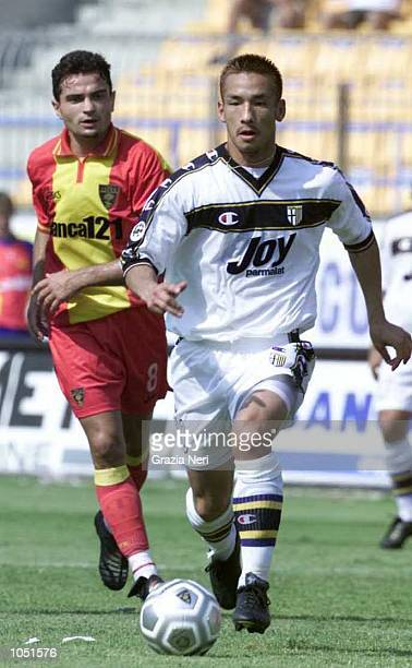 Nakata of Parma in action during the SERIE A 1st Round League match between Lecce and Parma played at the Via del Mare Stadium Lecce DIGITAL IMAGE...