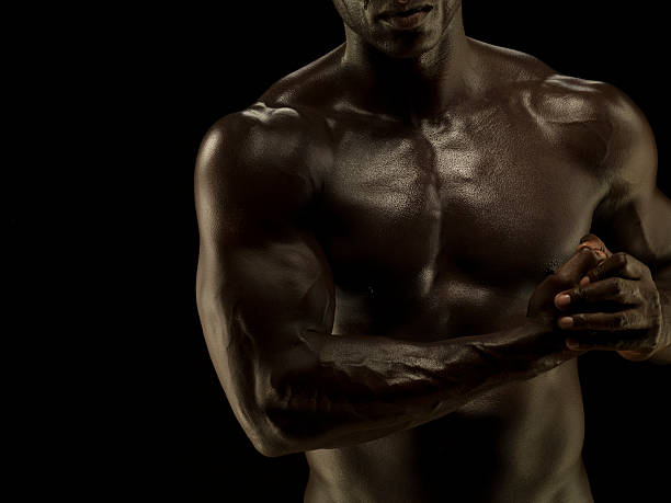 Naked Athletic Male,detail Muscular Chest And Arms Wall Art