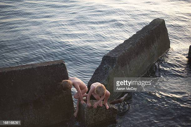 Naked Boys Stock Photo Getty Images