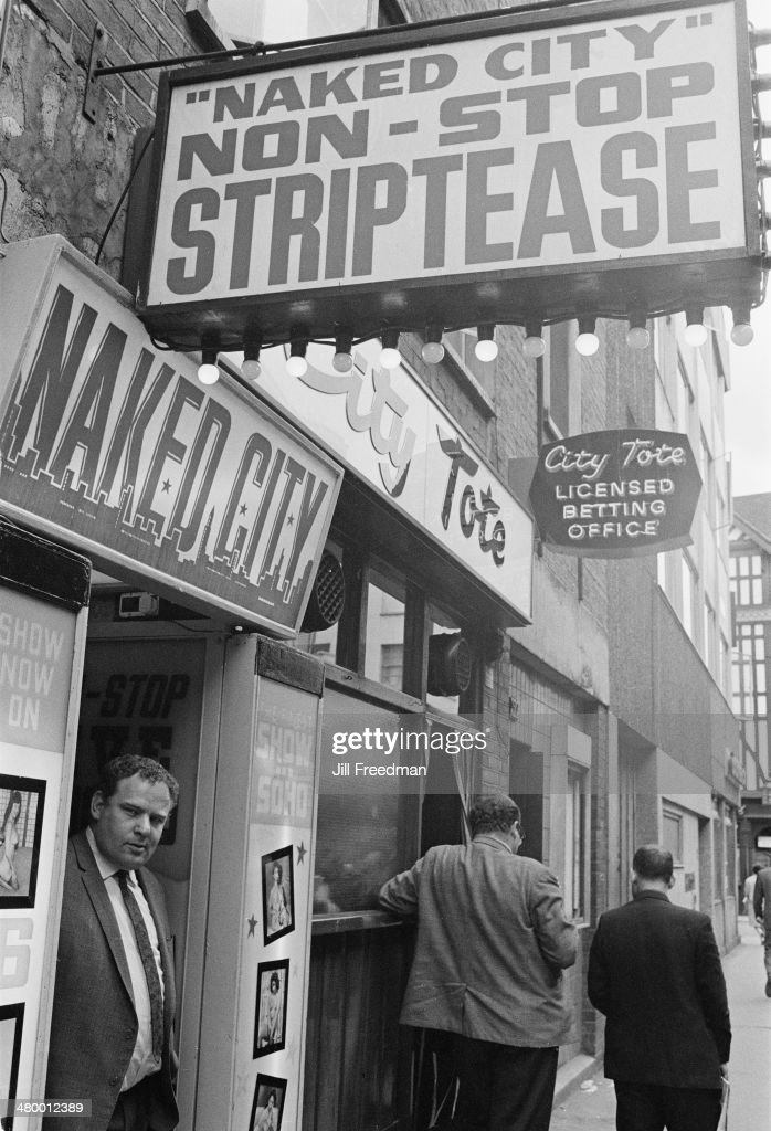 Naked City, a sex shop in Soho, London, England, 1969.