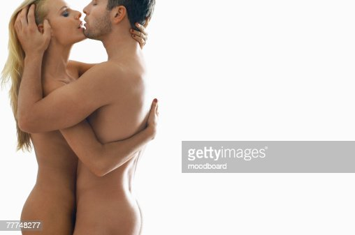 Naked Couple Kissing Photo - Getty Images-2264