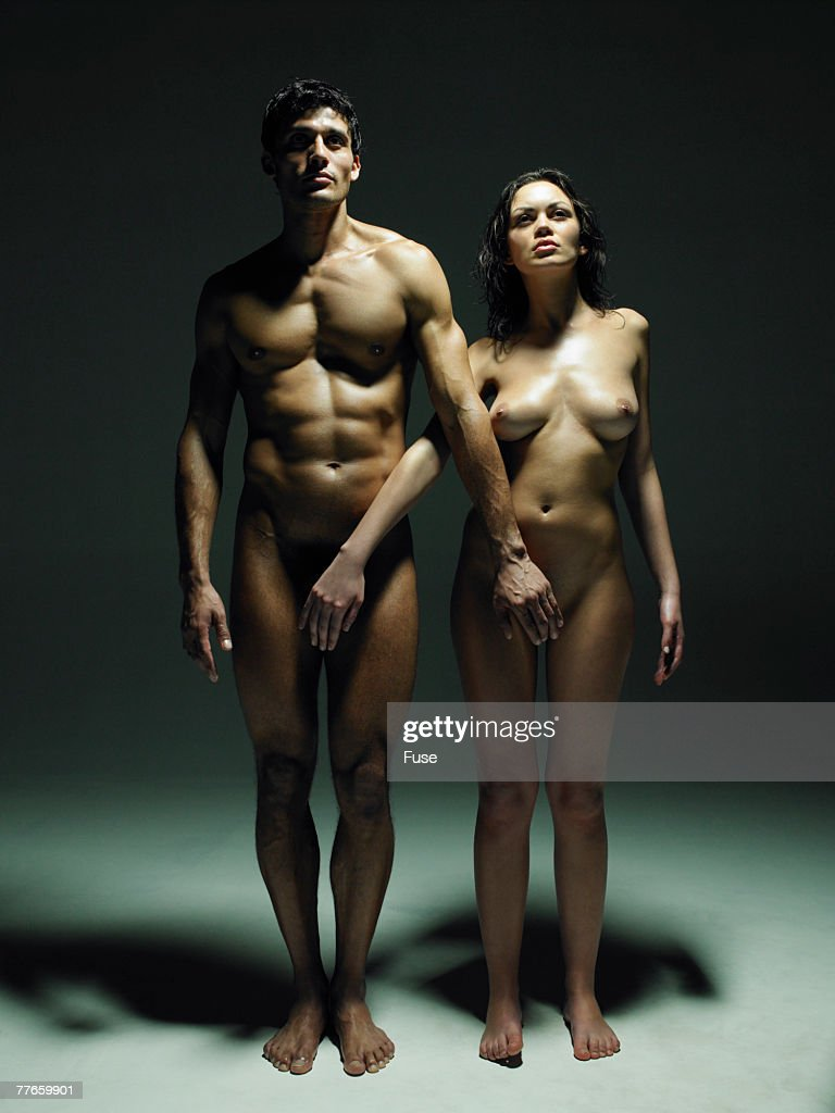 Naked Couple Standing Side By Side Stock Photo  Getty Images-6383