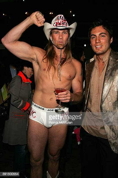 Naked Cowboy and Fabian Basabe attend Animal Fair Magazine's 6th Annual Paws for Style Benefiting the Humane Society of New York at Exit on May 25...