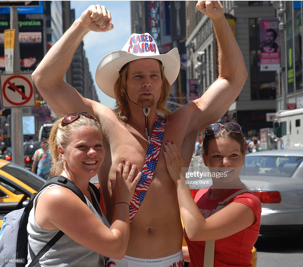 Naked Cowboy  Fans During Naked Cowboy In Times Square -2222