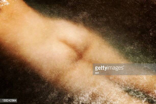 naked fat female floating on the bath,rear view - fat women in bath stock pictures, royalty-free photos & images