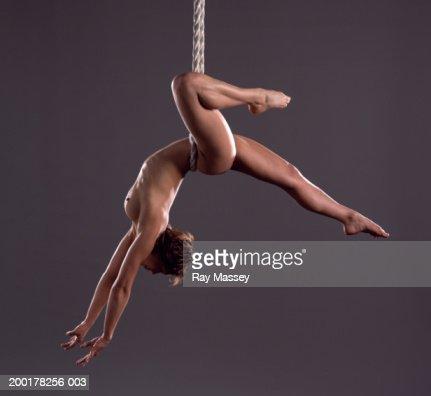 Nude female circus acrobat 9