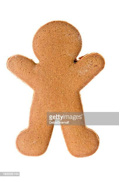 Nackt Lebkuchenmann Isoliert