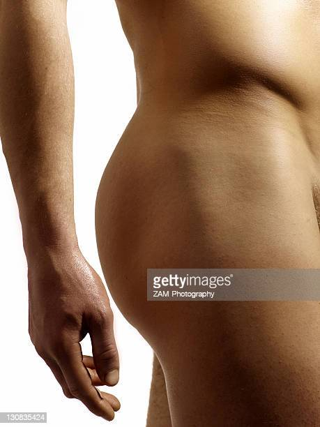 naked man, detail, side - fanny pic stock photos and pictures