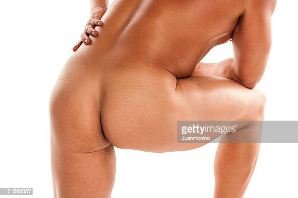 naked man - male bum stock photos and pictures