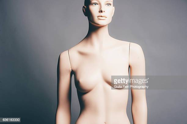 Naked mannequin in a studio