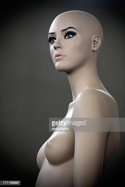 schaufensterpuppe nackt - nackte frau brüste stock-fotos und bilder