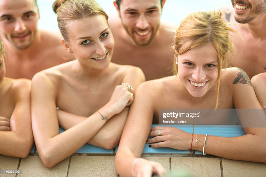 Naked Party On Swimming Pool Stock Photo  Getty Images-1756