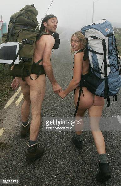 Naked Ramblers Stephen Gough And Melanie Roberts Set Off -6374