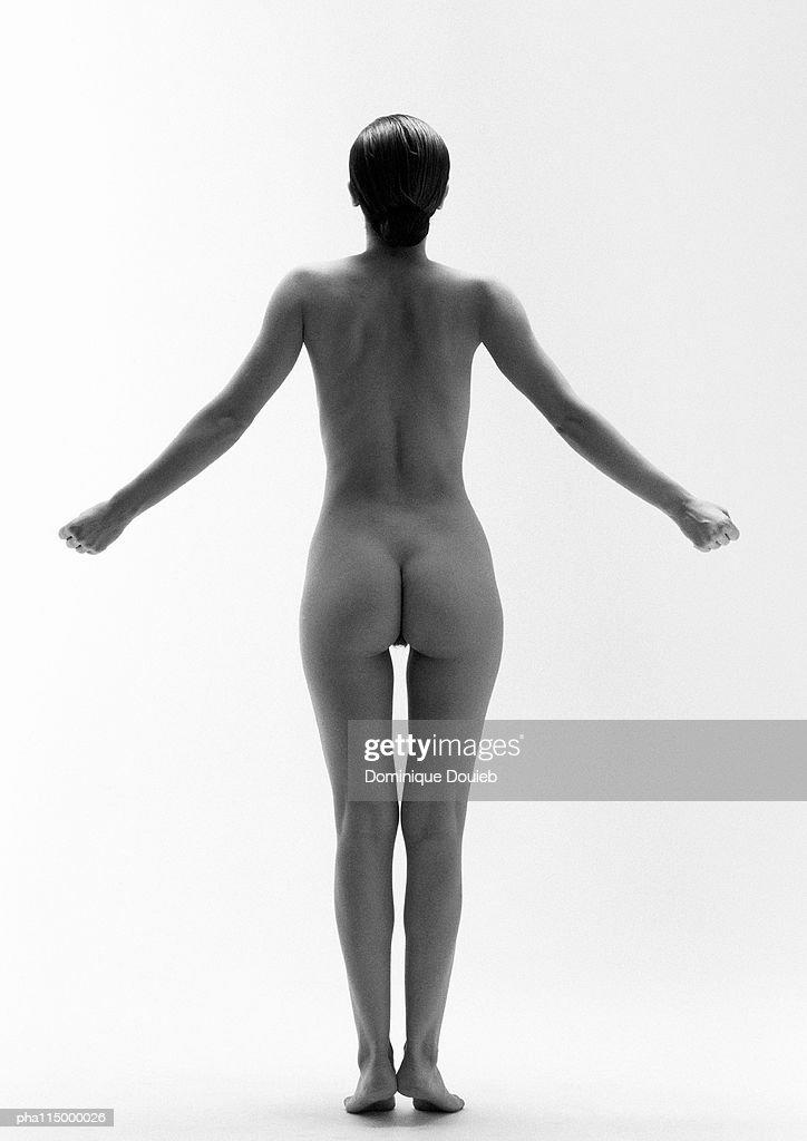 Naked woman, b&w. : Stockfoto