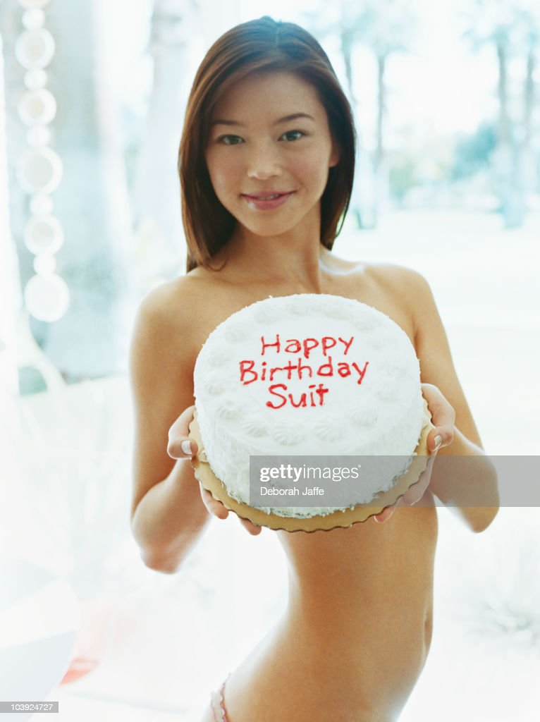 birthday cake naked woman