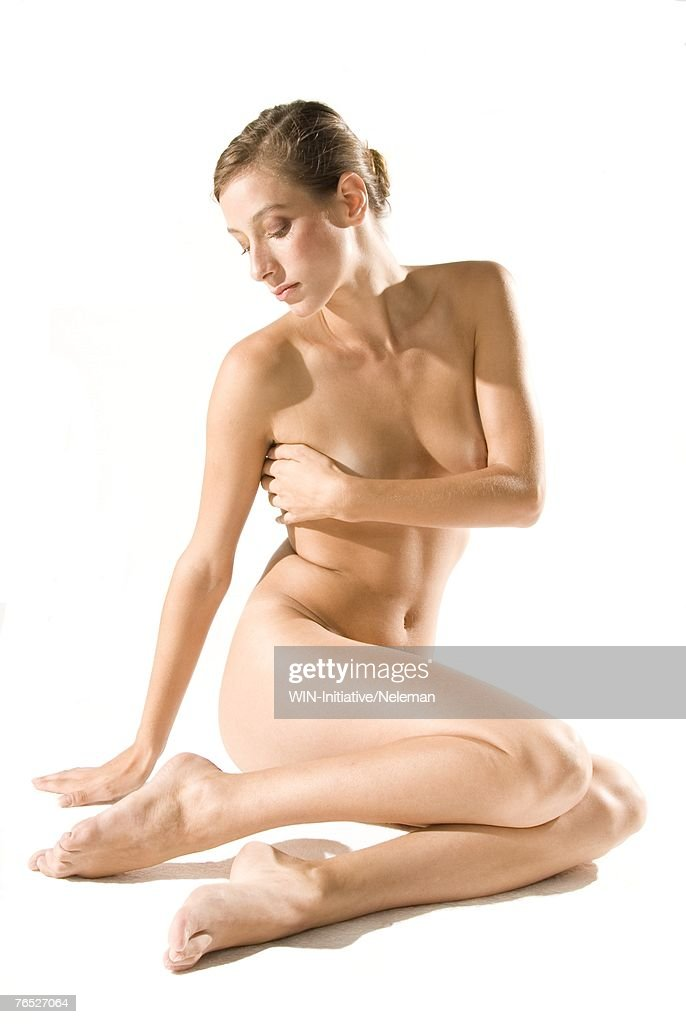 Naked Woman Sitting Stock Photo  Getty Images-3420