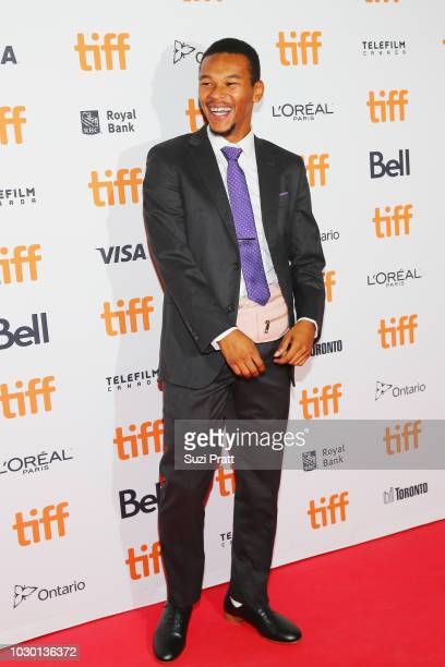 Nakel Smith attends the Mid90s premiere during 2018 Toronto International Film Festival at Ryerson Theatre on September 9 2018 in Toronto Canada