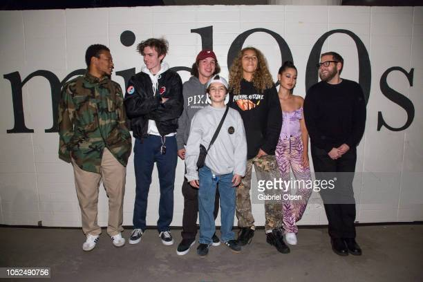 Nakel Smith Lucas Hedges Gio Galicia Sunny Suljic Olan Prenatt Alexa Demie and Jonah Hill arrive for the premiere of A24's Mid90s at West LA...