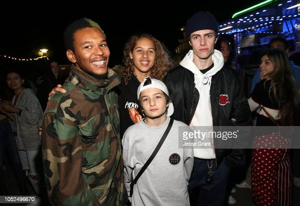 Nakel Smith Olan Prenatt Sunny Suljic and Ryder McLaughlin attend the premiere of A24's Mid90s after party on October 18 2018 in Los Angeles...