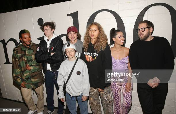 Nakel Smith Ryder McLaughlin Gio Galicia Sunny Suljic Olan Prenatt Alexa Demie and Jonah Hill attend the premiere of A24's 'Mid90s' at West LA...