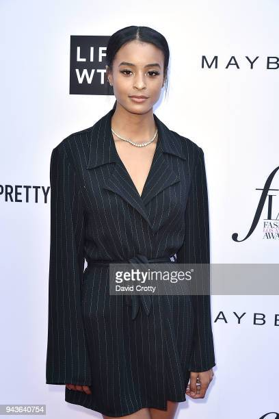 Nala Wayans attends The Daily Front Row's 4th Annual Fashion Los Angeles Awards Arrivals at The Beverly Hills Hotel on April 8 2018 in Beverly Hills...