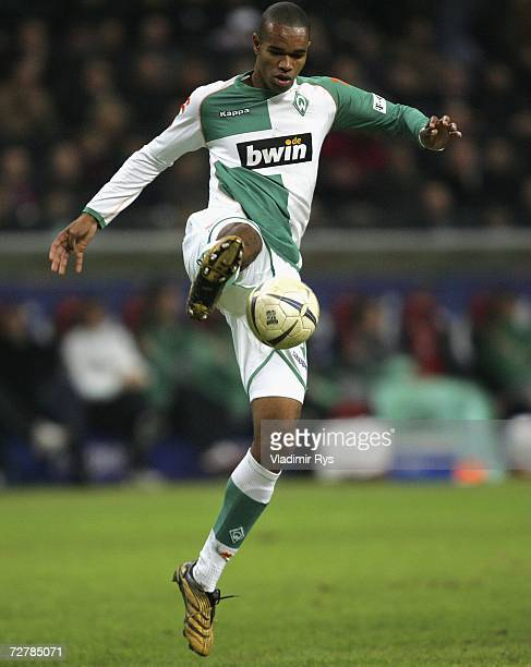 Naldo of Bremen in action during the Bundesliga match between Eintracht Frankfurt and Werder Bremen at the Commerzbank stadium on December 9 2006 in...