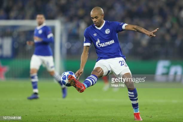 Naldo of FC Schalke 04 controls the ball during the UEFA Champions League Group D match between FC Schalke 04 and FC Lokomotiv Moscow at VeltinsArena...