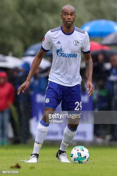Naldo of Schalke controls the ball during the preseason friendly match between FC Schalke 04 and Neftchi Baku on July 26 2017 in Neunkirchen Austria