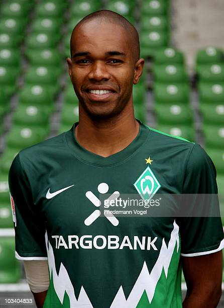 Naldo poses during the team presentation at the Weser stadium on August 16 2010 in Bremen Germany