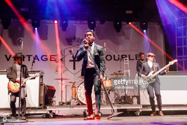 Nalle Colt Ty Taylor and Rick Barrio Dill of Vintage Trouble performs during the 2017 Voodoo Music Arts Experience at City Park on October 28 2017 in...