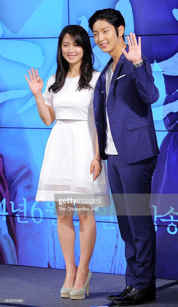 Nam Sang-Mi and Lee Joon-Gi attend the KBS drama 'The Joseon