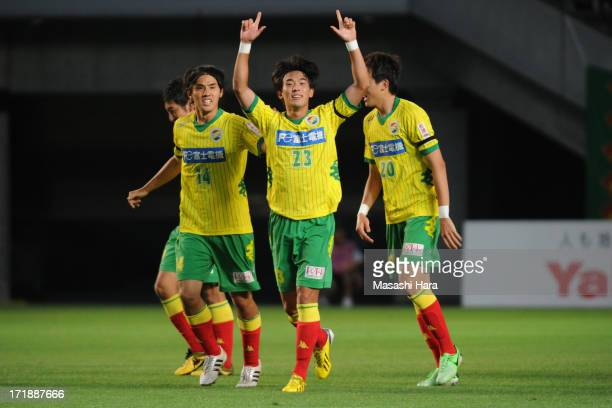 Nam Seung Woo of JEF United Chiba celebrates the first goal during the JLeague second division match between JEF United Chiba and Tokyo Verdy at...