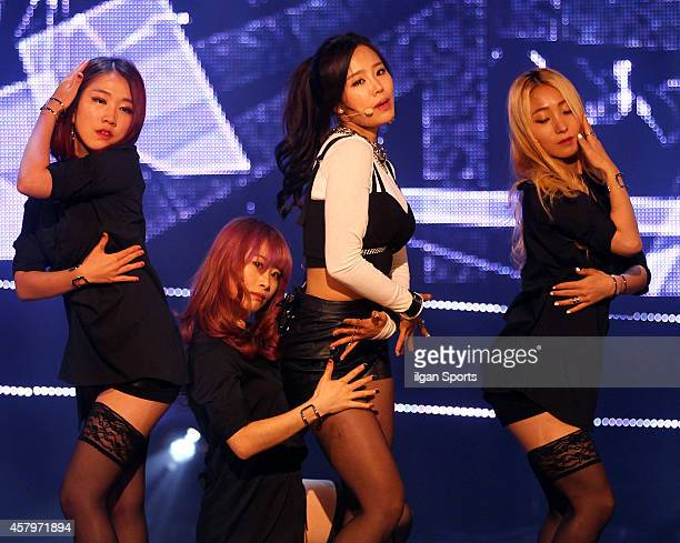 Nam YoungJoo performs onstage during the MBC Music 'Show Champion' at Bitmaru on October 22 2014 in Seoul South Korea