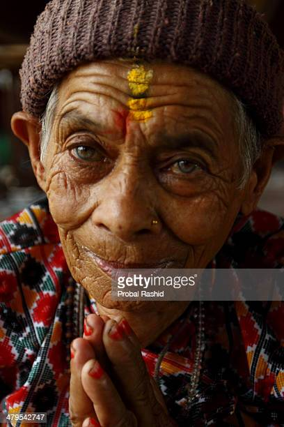 'Namaste aram' That is how Tirtha Rani Thapa greets strangers with a namaste and a quick tilt to her head Pashupati Bridhashram the old peoples' home...