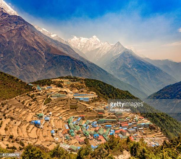 Namche Bazaar, Khumbu region, Nepal - April 26, 2016
