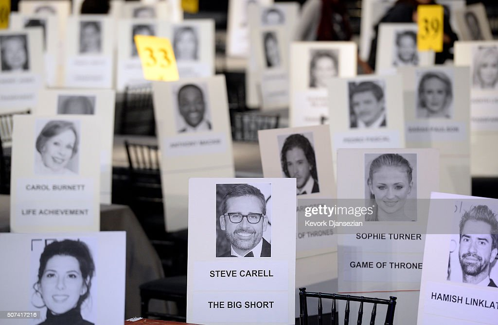 The 22nd Annual Screen Actors Guild Awards - Red Carpet Roll-Out and Behind-The-Scenes : News Photo