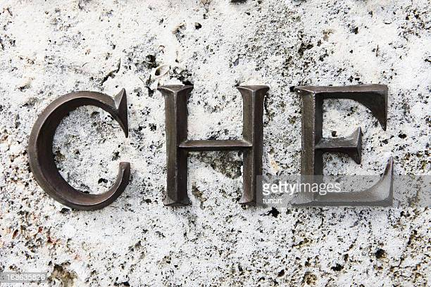 Name of CHE GUEVARA on his tomb, Santa Clara, Cuba