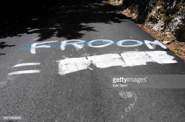 Julien Vermote and Mark Cavendish of Dimension Data at Plateau des Glieres during the 105th Tour de France 2018 Stage 10 a 1585km stage from Annecy...