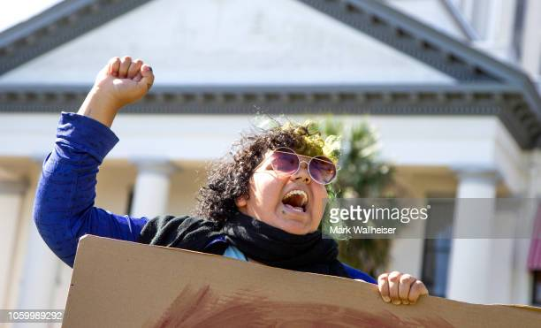 Name Smith joins a small group of protesters gathered in front of the Florida State Capitol in support of Christian Rivera and protesting Republican...