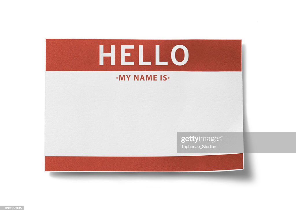 Name Tag (with clipping paths) : Stock Photo