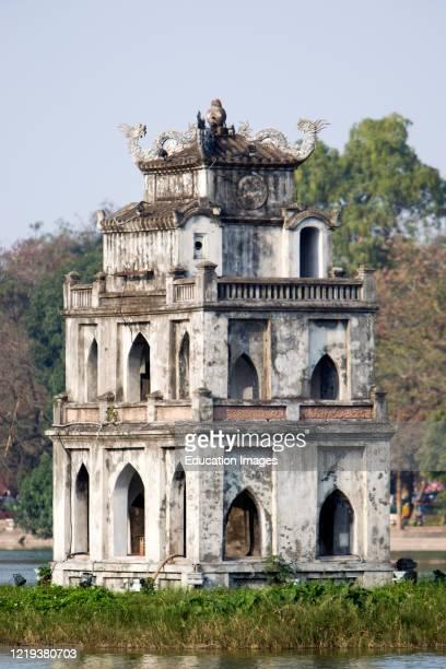 Named after the legend of the lake Thap Rua Tortoise Tower south end Hoan Kiem Lake Hanoi Vietnam.