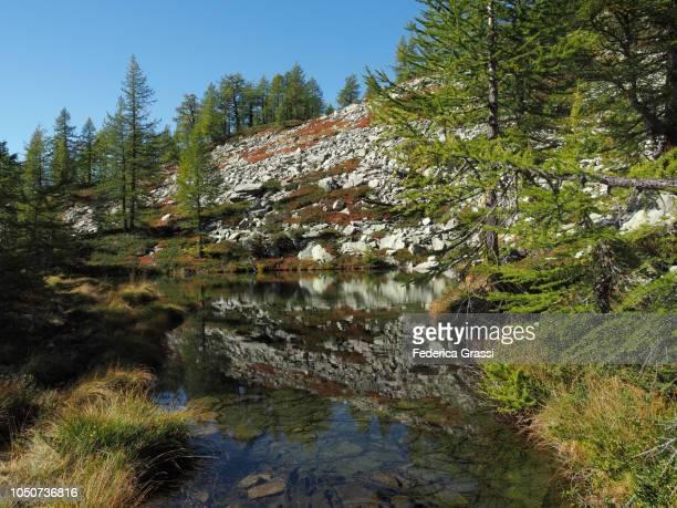 Nameless Alpine Pond Near Lago di Agro in The High Bognanco Valley
